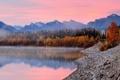Картинка National park, лес, осень, Alberta, озеро, Canada