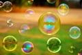 Картинка отражение, фон, widescreen, обои, настроения, мыльные пузыри, wallpaper