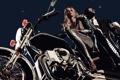 Картинка девушка, мотоцикл, мужчина, байк, Killer Is Dead