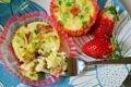 Картинка клубника, Muffin-Cup Souffles, кексы, закуска
