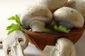 Картинка корзина, грибы, шмпиньоны