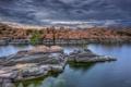 Картинка США, скалы, лето, Watson, вечер, озеро, Аризона
