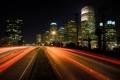 Картинка дорога, свет, ночь, огни, фото, города, дороги